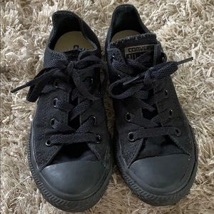 Kids' CONVERSE Black/Black Low Top Sneakers -Sz 13